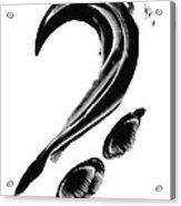 Black Magic 300 - Black And White Art Acrylic Print