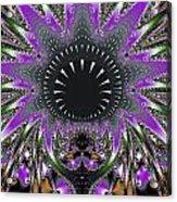 Black Magic Wand Fractal Acrylic Print
