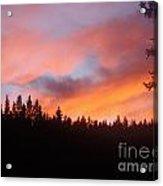 Black Mountain Sunset Acrylic Print