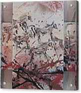 Black Mud Stampede Acrylic Print
