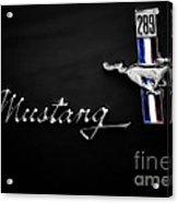 Black Mustang Acrylic Print