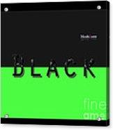 Black Neongreen Art Acrylic Print