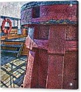 Black Pearl Deck Acrylic Print