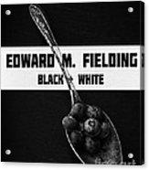 Black Plus White Book Cover Acrylic Print
