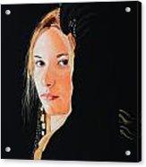 Black Princess - Eyes of Fire Acrylic Print