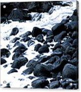 Black Rocks Along The Puna Coast Acrylic Print