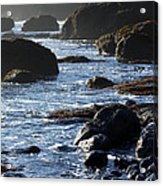 Black Rocks And Sea  Acrylic Print