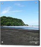 Black Sand Beach In Costa Rica Acrylic Print