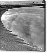 Black Sand Icelandic Beach Acrylic Print