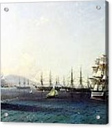 Black Sea Fleet In The Bay Of Feodosia Just Before The Crimean War 1890 Acrylic Print