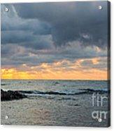 Black Sea Sunrise Before Storm Acrylic Print