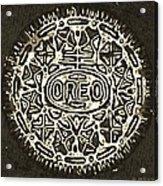 Black Sepia Oreo Acrylic Print