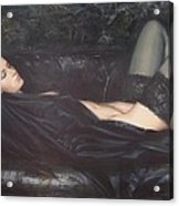Black Silk Acrylic Print