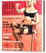 Black Silk - Vintage Magazine Covers Series Acrylic Print