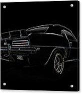 Black Ss Line Art Acrylic Print