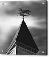 Black Stallion Weathervane Acrylic Print
