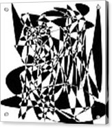 Black Stroke Acrylic Print