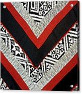 Black Thai Fabric 01 Acrylic Print