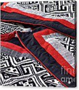 Black Thai Fabric 04 Acrylic Print