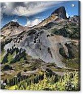 Black Tusk Over Alpine Meadows Acrylic Print