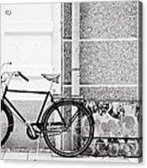 Black Vintage Bicycle Acrylic Print by Jimmy Karlsson
