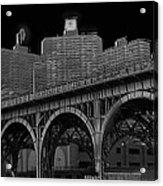 Black White City Acrylic Print