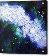 black white lightning blue green abstract ENERGY FORCE by Chakramoon Acrylic Print