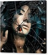 Black Widow Acrylic Print by Gun Legler