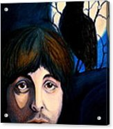 Blackbird Acrylic Print by Debi Starr