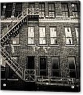 Blackened Fire Escape Acrylic Print
