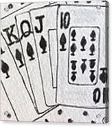 Blackjack Black And White Acrylic Print