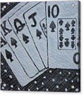 Blackjack Hand Acrylic Print