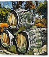 Blackjack Winery Wine Barrels Acrylic Print