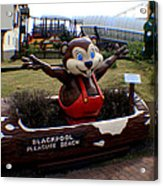 Blackpool Pleasure Beach Lancashire England Acrylic Print