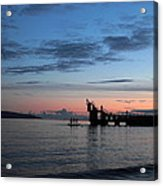 Blackrock After Sunset Acrylic Print by Peter Skelton