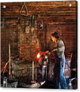 Blacksmith - Cooking With The Smith's  Acrylic Print by Mike Savad