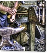 Blacksmith Working Iron V1 Acrylic Print