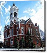 Blairsville Courthouse At Christmas Acrylic Print