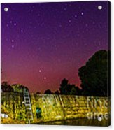 Blanco River Dam At Night - Texas Hill Country Blanco Texas Acrylic Print