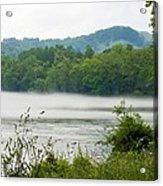 Blanket Of Fog On Clinch River  Acrylic Print