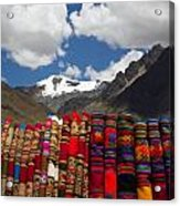 Blankets-andes Acrylic Print