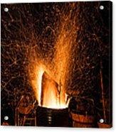 Blazing Bonfire Acrylic Print