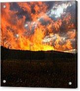 Blazing Sky Acrylic Print