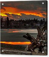 Blazing Sunset II Acrylic Print