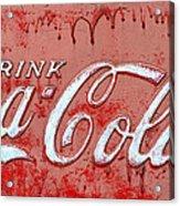 Bleeding Coke Red Acrylic Print