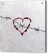 Bleeding Love Acrylic Print