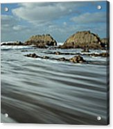 Blegberry Beach Devon Acrylic Print
