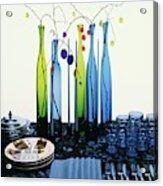 Blenko Glass Bottles Acrylic Print