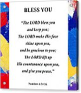 Bless You Poster Acrylic Print