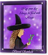 Blessed Samhain Witch Acrylic Print